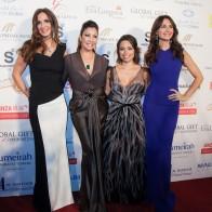 Fundadoras, María Bravo y Alina Peralta, durante la alfombra roja Global Gift Gala Dubai 2013