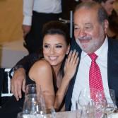 Eva Longoria y Carlos Slim