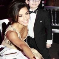 Honorary chair Eva Longoria arriving at ME London for The Noble Gift Gala 2012 benefiting The Eva Longoria Foundation, Fight for Life and Caudwell Children and Nathan