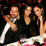 Ricky Martin, Eva Longoria and Victoria Beckham
