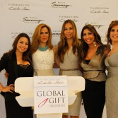 Global Gift Ambassadors Maria Luisa Resendez, Esther Porto, Renata Black with Eva Longoria & Founders Alina Peralta and Maria Bravo - Global Gift Initiative Mexico