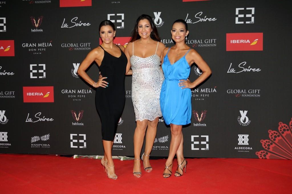 Eva Longoria con Maria Bravo y Alina low