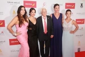 María Bravo, Eva Longoria, Padre Ángel, Samantha Vallejo-Nágera & Alina Peralta