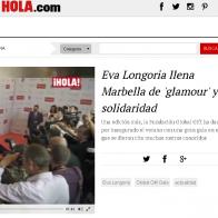Video Hola.com Eva Longoria llena Marbella de  glamour  y solidaridad