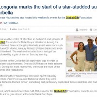 Sur in English Eva Longoria marks the stat of a star-studded summer in Marbella