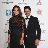 El futbolista Mikel Arteta junto a Lorena Bernal