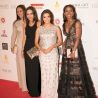 Eva and Helmer Family, Danielle (Missouni), Michelle (Stella McCartney ) and Shevanne (Elie Saab)